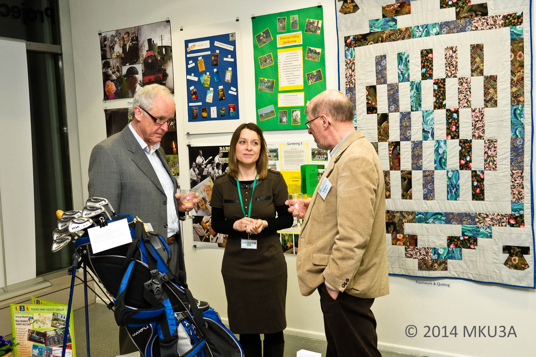 Trustees Marcel Mallens & Phil Mountford with Emma Fry of MK gallery